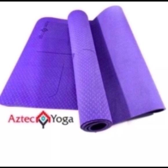 Thick Foam Yoga Mat Gym Yoga Workout Purple